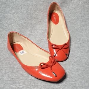 Liz Claiborne Orange Ballet Flats Size 7